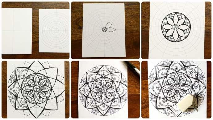 how to make a mandala drawing