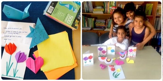 Volunteering with children Bucharest, easy origami for children